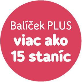 Balíček PLUS viac ako 15 staníc